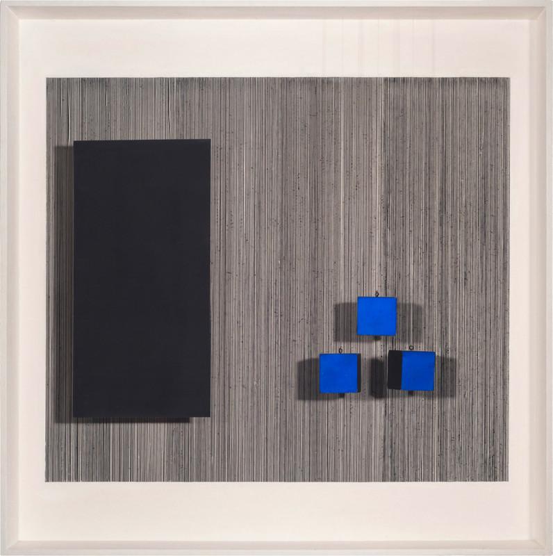 Jesús Rafael Soto Les trois cubes bleus 1962