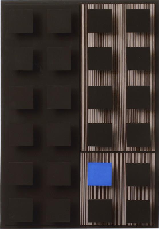 Jesús Rafael Soto Un carré bleu 1968