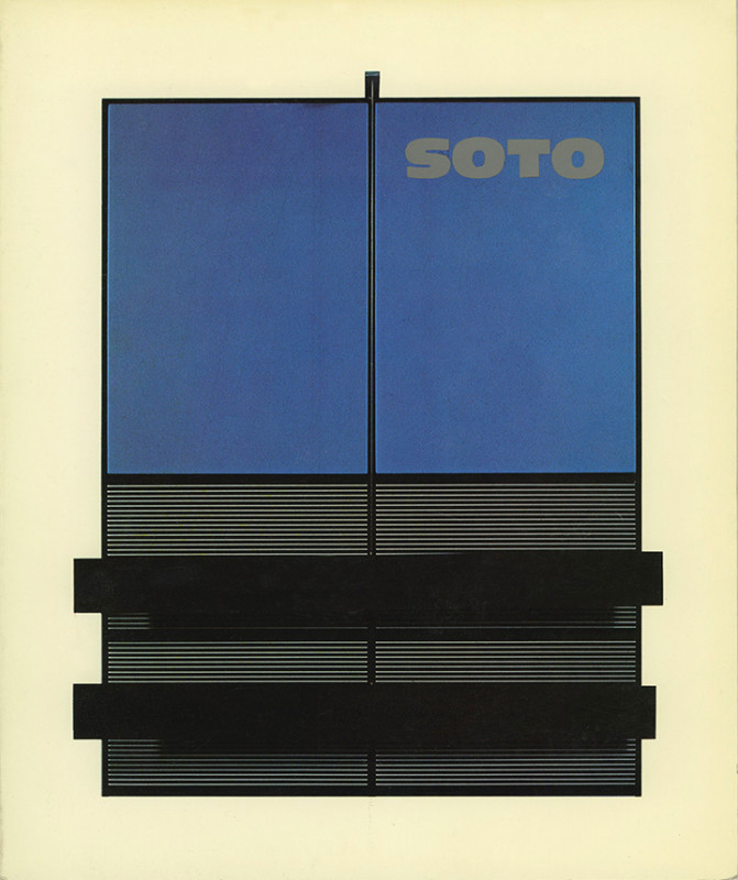 Soto exhibition catalogue Arte Contacto Art Gallery Caracas 1975
