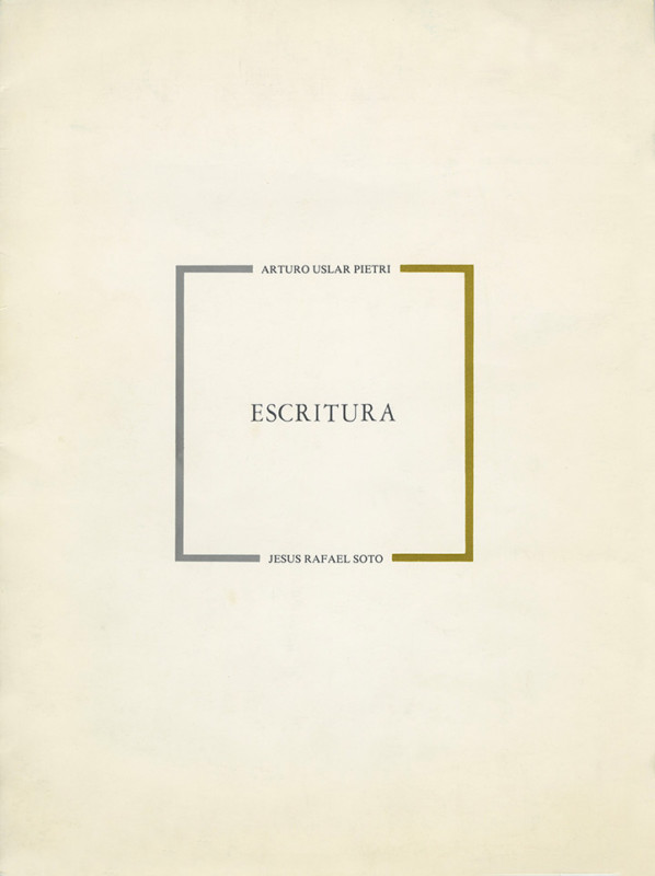 Soto Escritura exhibition catalogue Caracas 1979