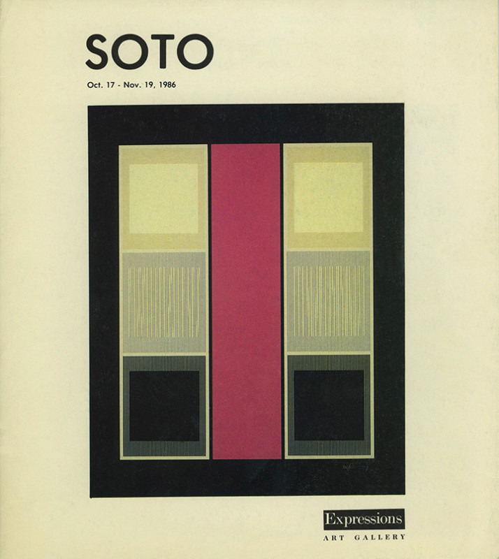Soto exhibition catalogue Expressions Art Gallery Miami 1986