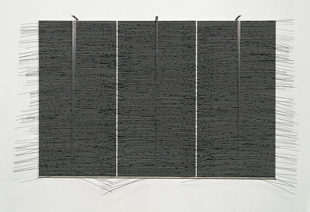 Jesús Rafael Soto Tríptico horizontal negro 1977