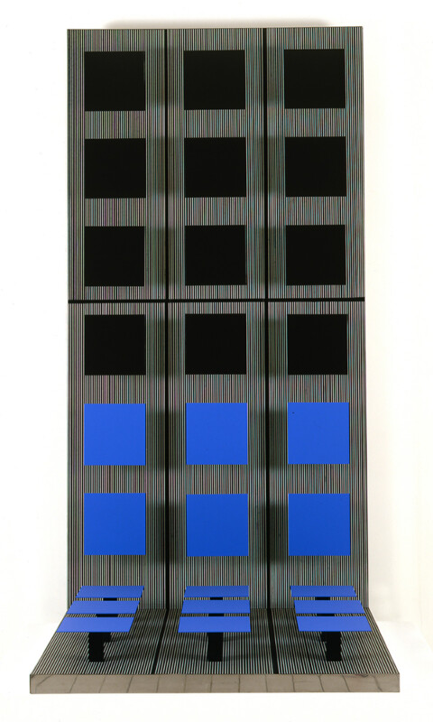 Soto équerre carrée en vibration 1970