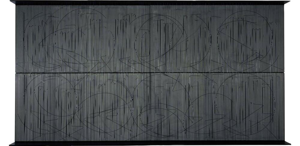 Soto Escritura muro negro 1977