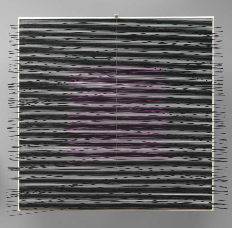 Soto Carré virtuel violet 1979