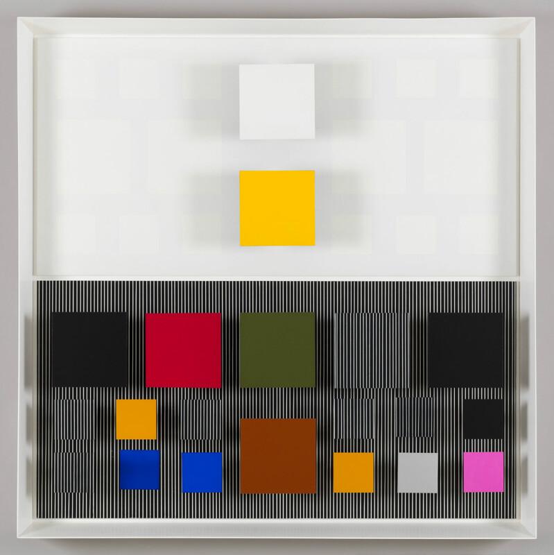 Soto Ambivalencia en el espacio color no.9 1981