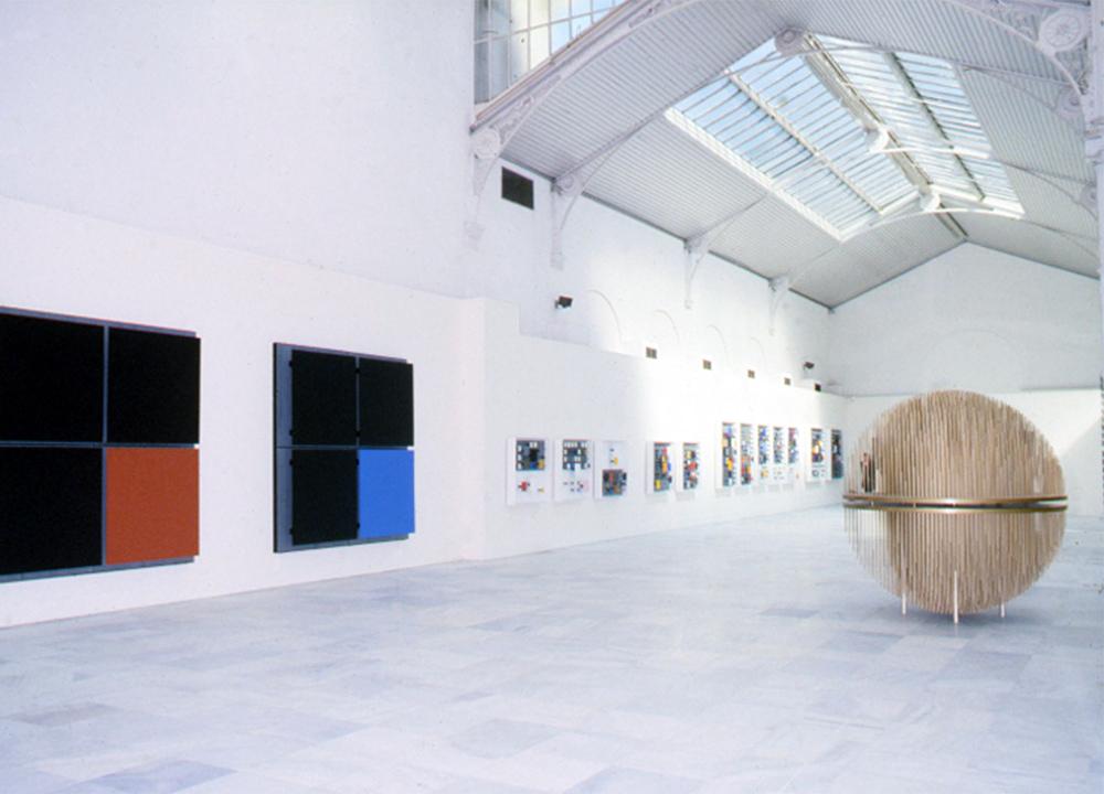 Soto exhibition Palacio de Velasquez del parque del Retiro