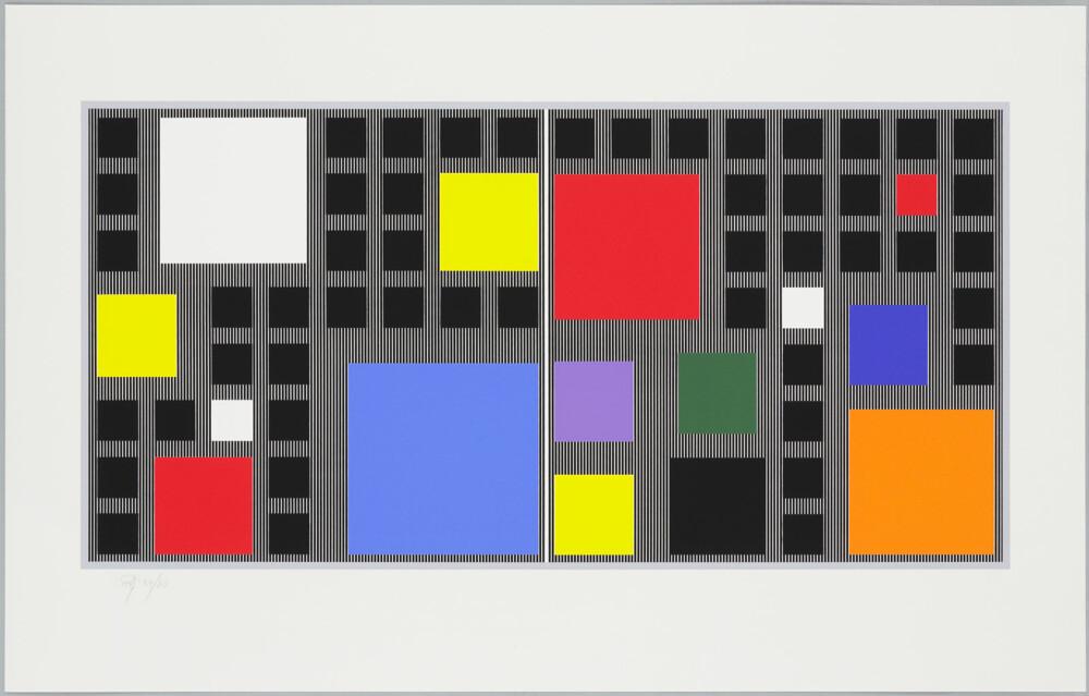 Soto Mur polychrome C.F.D.T. 1988