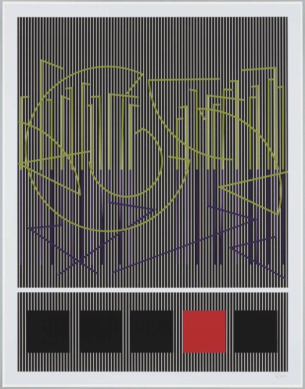 Soto Ecritures et carrés 1990