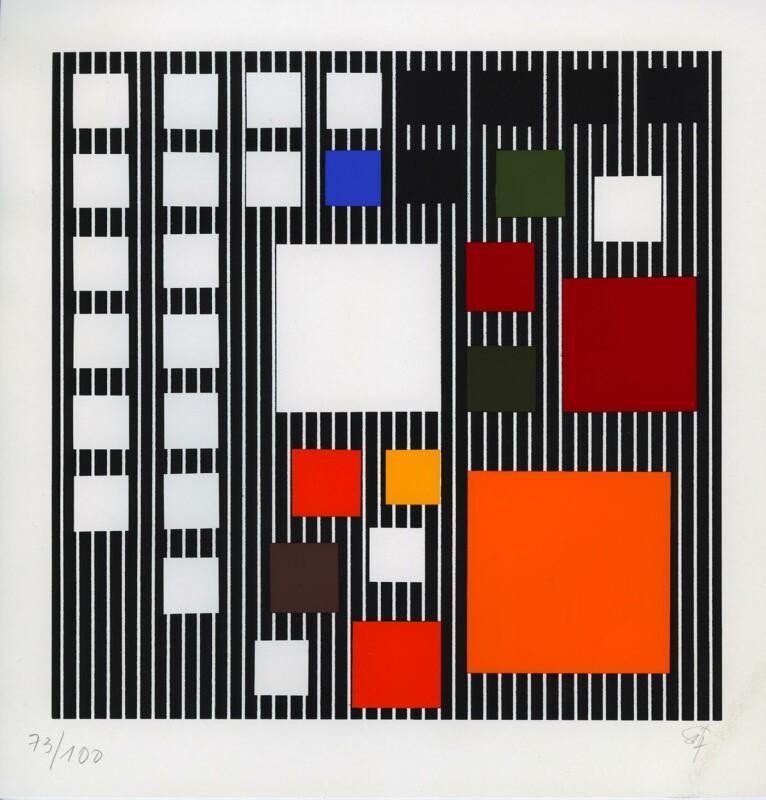Soto s/t sérigraphie 1990 22 x 23 cm